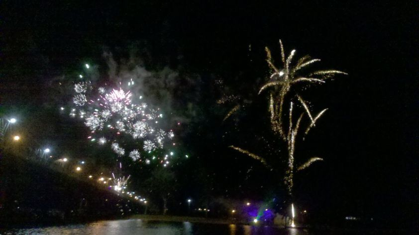 Phone Photo of Fireworks
