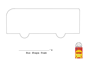 Bus Shape Poem Outline
