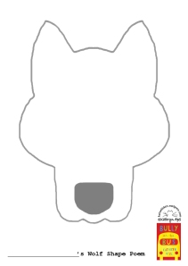 Wolf Shape Poem Outline