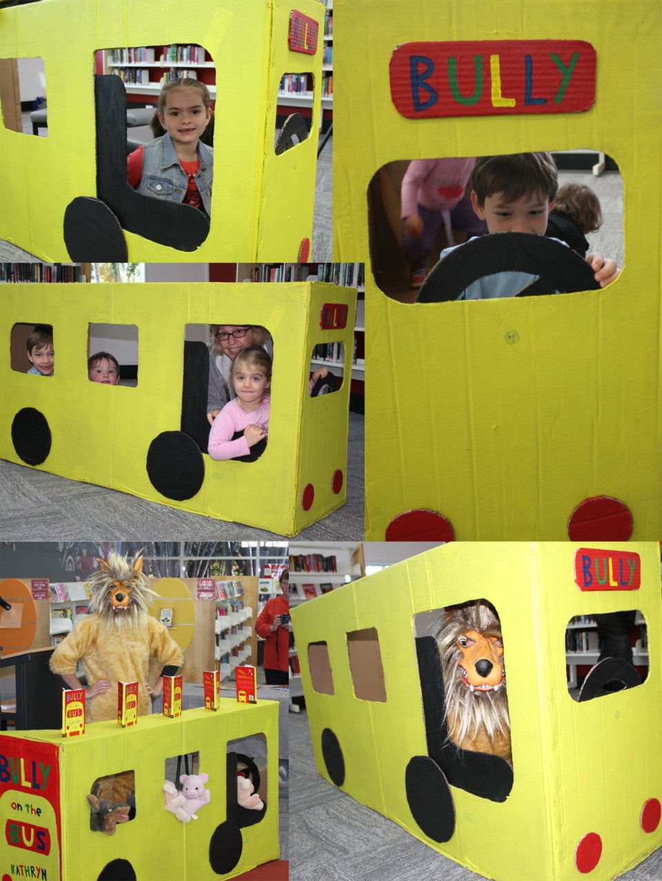 Kids enjoyed the fantabulous Bully Bus - thanks to my hubby.