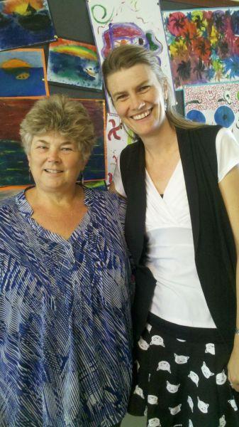 Wonderful to meet Lorraine Marwood at last!