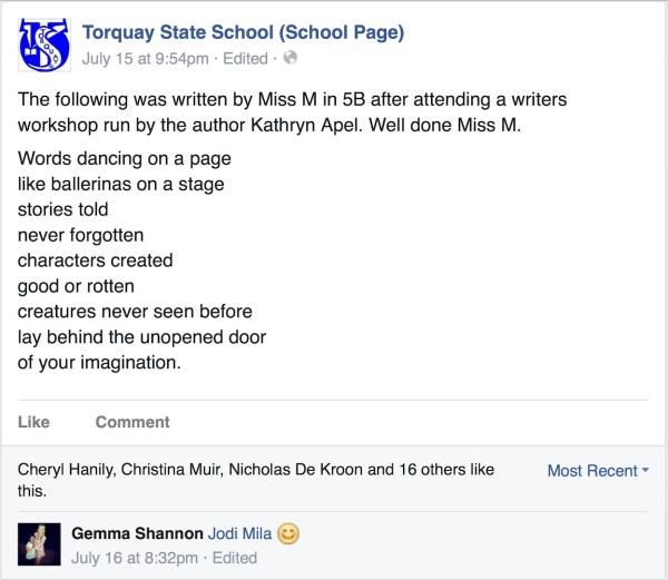 Torquay State School Facebook Screenshot