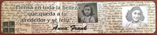 "Anne Frank bookmark. Translated it says; ""Think of all the beauty still left around you and be happy."" Inspiring and encouraging. #Ushuaia"