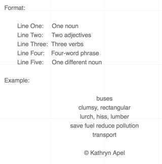 Example Cinquain